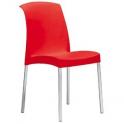 JENNY SPED.GRATUITA - Sedia Impilabile in polipropilene gambe in alluminio bar hotel SCAB DESIGN certificate per uso locali
