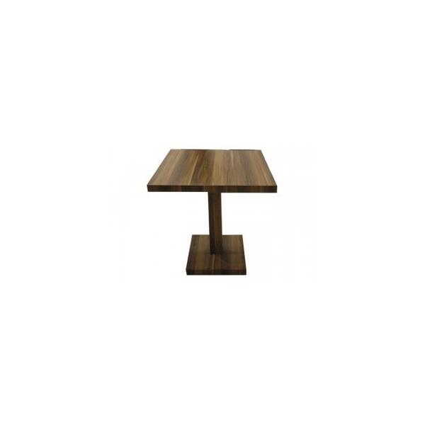 Tavolo alto in legno gamba centrale tavolini h90cm for Piani domestici di 2000 piedi quadrati