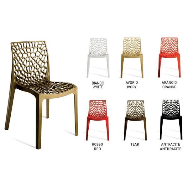 Sedia gruvyer contract bar sedie polipropilene esterno for Sedie da tavolo moderne