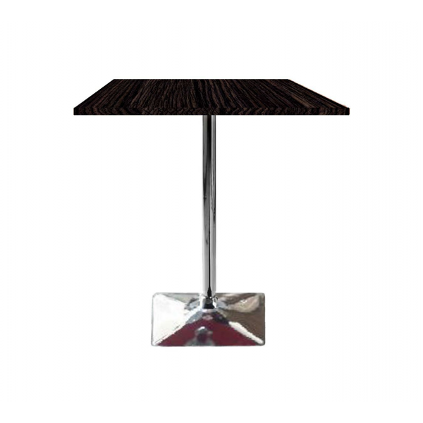 Tavolo saturno qnq 3 6 con gamba centrale cromata e top in for Piani domestici moderni 2500 piedi quadrati
