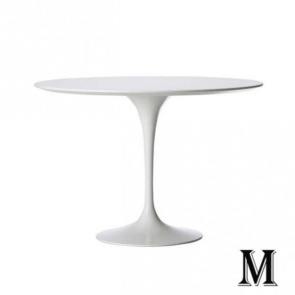 Tavolo tulip piano diametro 70 80 90 120 cm mdf laccato for Piani d ufficio di 1200 piedi quadrati