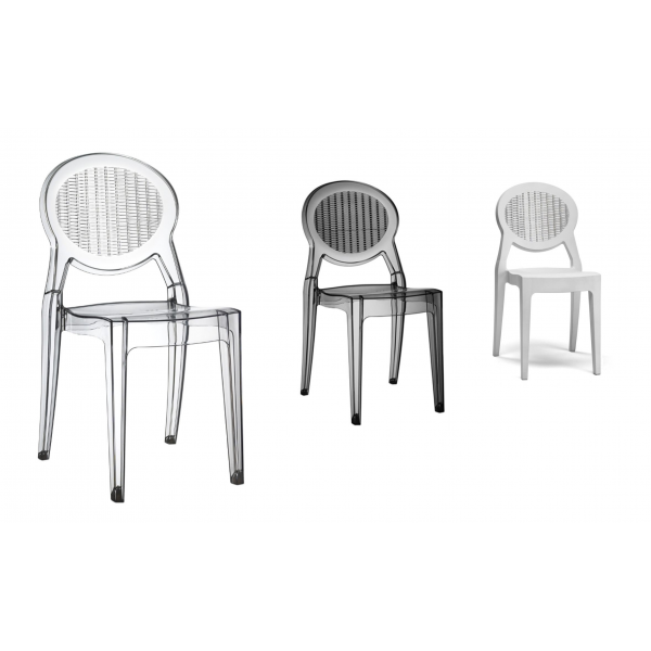 Barbarella sedia impilabile in policarbonato scab design for Sedie policarbonato economiche