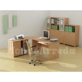 Adonia - Scrivania ufficio angolare un posto - MondoArreda